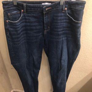 Loft skinny crop jeans, like new